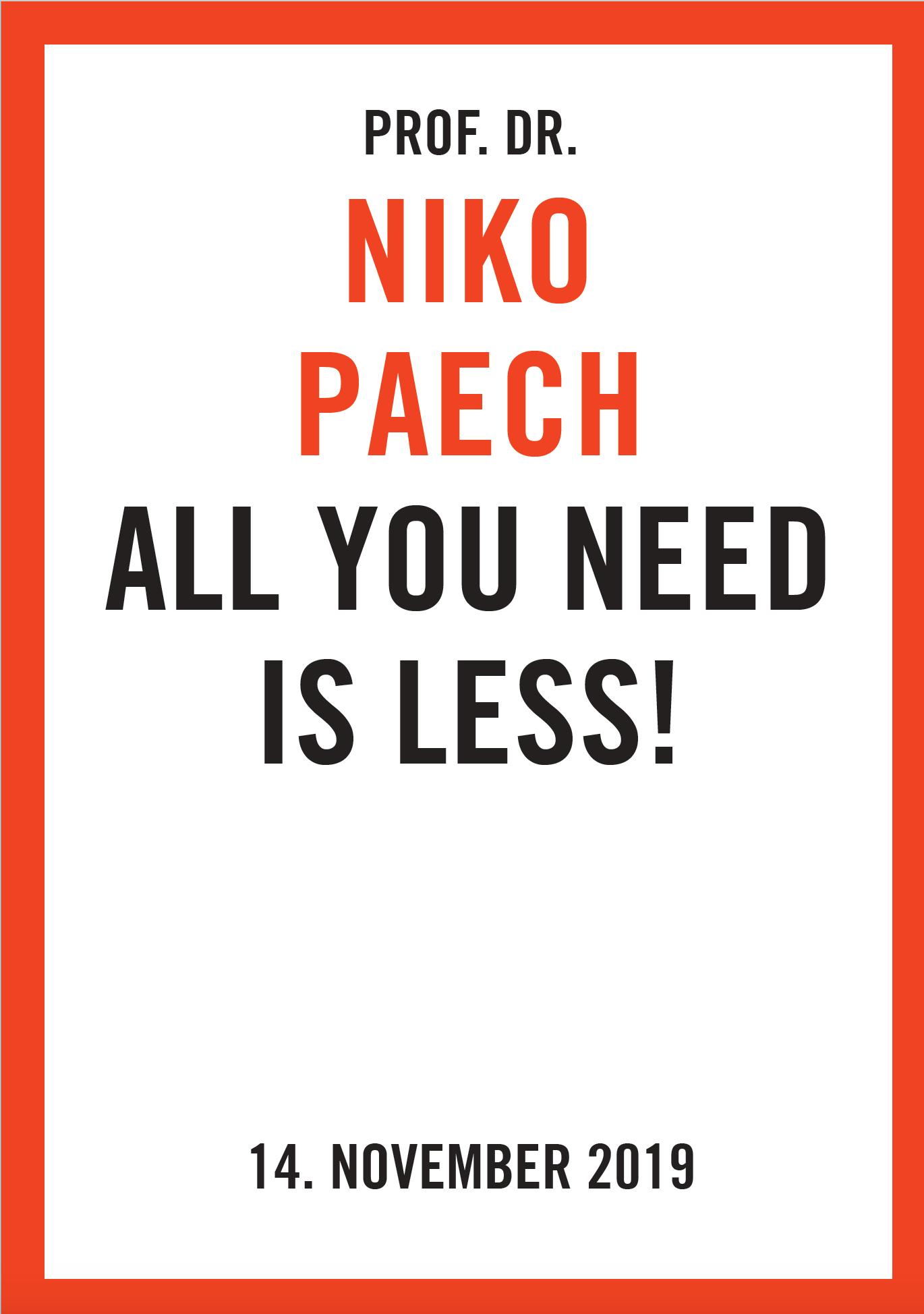 Cover NIKO PAECH